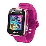 VTech - Kidizoom Smart Watch DX2, Reloj inteligente para niños, doble cámara de fotos, vídeos, juegos, color Frambuesa, Versión ESP (80-193847)