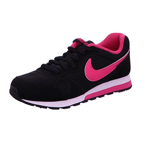 Nike MD Runner 2 (GS), Scarpe da Ginnastica, Nero (Black/Vivid Pink/White 006), 37.5 EU