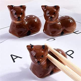 Chopstick Set - 1pc Lovely Cat Shape Chopsticks Stand Ceramic Ks Decoration - Black Knife Holder Bamboo Metal Spoon Stick Blossom Neko Gold Rabbit Ceramic Chopstick Otter Korean Rest Leaf