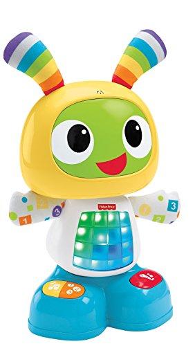 Fisher-Price Bebo le Robot interactif jouet d'éveil avec 3 modes de jeu, version espagnole, pour bébé de 9 mois et plus, CGV50