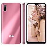Smartphone ohne Vertrag Günstig 4G KXD D58 Handy mit Dual SIM 6,22 Zoll HD Bildschirm Android 9.0 Go 4000mAh Batterie 13MP+5MP Kameras 2GB RAM 32GB ROM, 3 in 1 Steckplatz