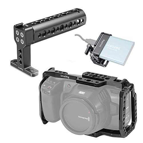 SMALLRIG Cage Kit für Blackmagic Design BMPCC 4K & 6K Kamera, BMPCC 4K & 6K Cage Kit mit Cage Top Handle und SSD-Halter - KCVB2748