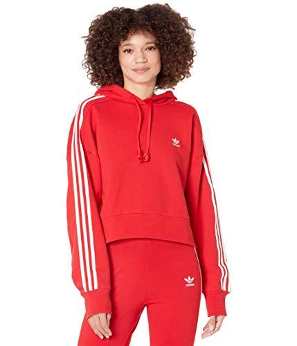 adidas Originals,womens,Short Hoodie,Scarlet,X-Large