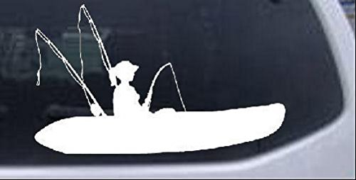 Kayak Fishing Car Decal Sticker