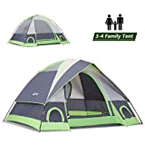 SEMOO3-4 Person Dome Family Camping Tent, Waterproof and Convenient to Fold, Lightweight with Carry Bag for Outdoor Use