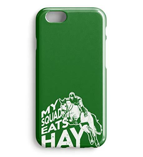 PlimPlom My Squad Eats Hay Handyschale - Reitsport Pferde Reiter Spruch Handyschutzhülle - Case -iPhone 6s-Kelly Green