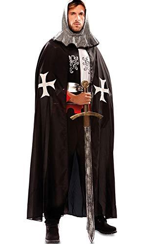 EUROCARNAVALES Capa de Templario Medieval Negra para Hombre