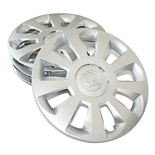 Skoda 1ST071454C Radzierblenden (4 Stück) Radkappen 14 Zoll Radblenden 5Jx14 Stahlfelgen Silber