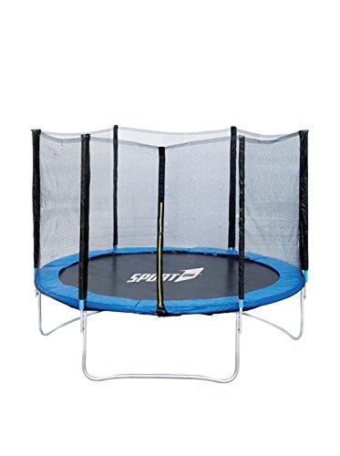Sport1 Tappeto Elastico Diametro 244 cm/Rete di Protezione Altezza 150 cm con zip ingress /Impermeabile resistente ai raggi UV/Struttura in Acciaio Galvanizzato/Facile Montaggio/Made in USA