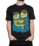 Princess Bubblegum Rock T-Shirt, Men's Women's Adventure Time Tee (L - Male) Black