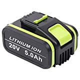 TenHutt 20V 5.0Ah / 5000mAh para de iones de litio Worx WA3551 WA3551.1 WA3553 WA3553.2 WA3641 Batería