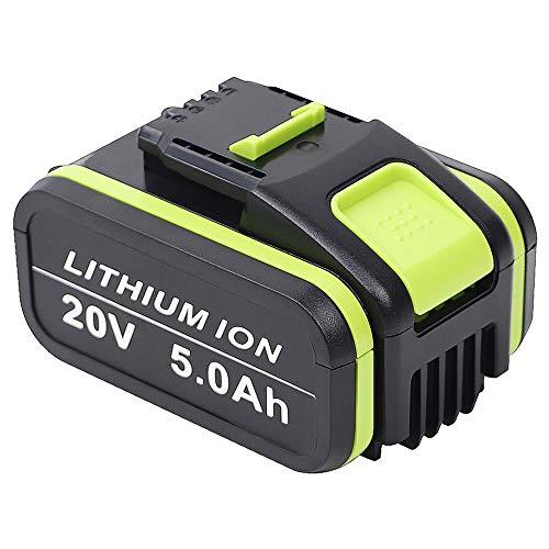 TenHutt 20V 5.0Ah / 5000MAh Batteria Li-Ion Di Ricambio Per Worx WA3551 WA3551.1 WA3553 WA3553.2 WA3641