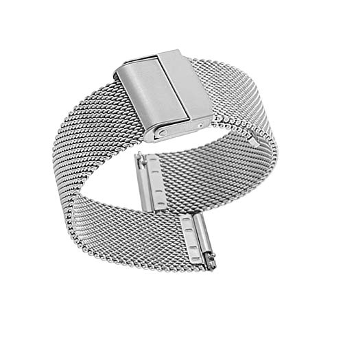 Uhrenarmband Verstellbares Edelstahlnetz Ersatz Uhrenarmband Atmungsaktiv Und Wasserdicht Schnellverschluss,19mm