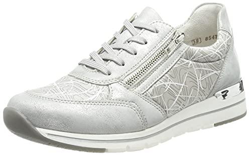 Remonte Damen R6700 Sneaker, Ice/perlcloud/hellgrau-Bianco / 40, 38 EU