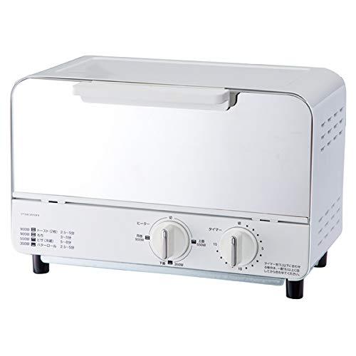 ドウシシャ オーブントースター ホワイトDOSHISHA PIERIA(ピエリア)ミラーガラストースター OT-U901-WH