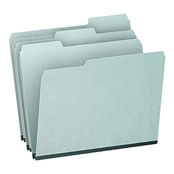 Pendaflex 1  Expansion Pressboard File Folders with 1/3 Cut Tab Letter Blue 25/Box  9200T 1/3