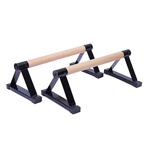 Push Up Bars, Parallettes, Wood Parallettes Set Stretch Stand Handstand Fitness, Calisthenics Equipment, for Enhanced Push Ups, Men Women