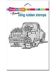 CLING RUBBER STAMP PUP TRUCK