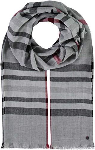 FRAAS Karierter Schal für Damen & Herren - XXL-Schal Made in Germany - Moderner Decken-Schal - Plaid mit Karo-Muster - Perfekt für Frühling und Sommer Grau