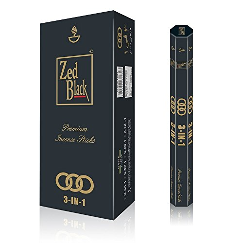 ZED BLACK Aroma Premium Fragrance Sticks - Pack of 6 - Serene and Enthralling 120 Incense Sticks - Feel The Natural Fragrances with Scented Oil Sticks