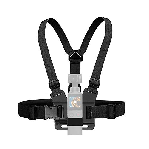 Bindpo Camera Chest Harness, Adjustable Chest Mount Strap with Clip for FIMI Palm for OSMO Pocket
