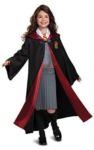 Harry Potter Hermione Granger Deluxe Girls Costume, Black & Red, Kids Size Large (10-12)