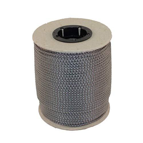 Unbekannt PPM Flechtleine 3,0mm - 100mtr Rolle in vielen Farben (Grau) / Seil, Tauwerk, Leine