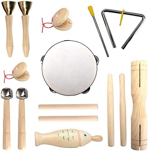 wonuu Baby Musical Instruments for Toddlers 100 Natural Wooden Kids Musical Instruments Eco product image
