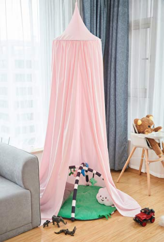 Laneetal Betthimmel Baldachin Rosa Kinderzimmer Deko Moskitonnetz Babys Bett, Prinzessin Prinz Spielzelte Kuschelecke Dekoration für Spielzimmer Schlafzimmer Ankleidezimmer
