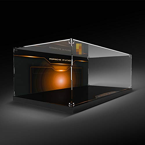 XJJY Caja de visualización acrílica para Modelo Lego, Mostrar Caja para Lego TECHNIC 42056 Porsche 911 GT3 RS (no Incluye Modelo)