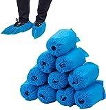 Lot de 100 couvre-chaussures jetables de maison - Antidérapants et durables pour un usage médical, en intérieur, en lieu de travail ou en voiture.