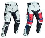 WinNet Pantaloni da moto in cordura 4 stagioni per turismo con protezioni omologate di secondo livello (2XL, NERO)