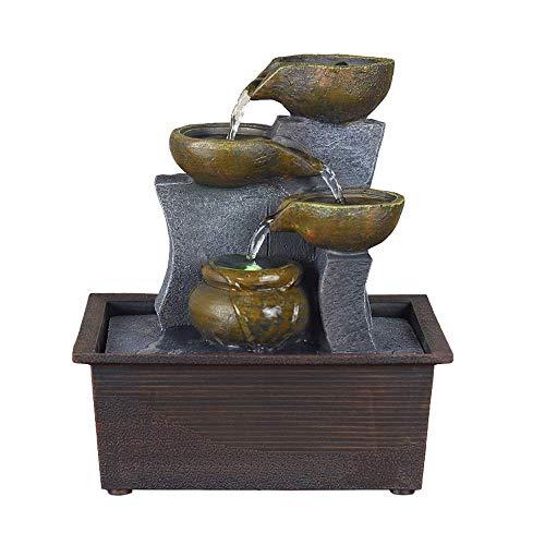 Zixin Home Decor Fließendes Wasser-Brunnen-Harz-Fertigkeit Büro Feng Shui-Rad-Schreibtisch Ornamente Geburtstags-Geschenk