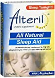 Alteril All Natural Sleep Aid Tablets Maximum Strength - 30 ct, Pack of 6