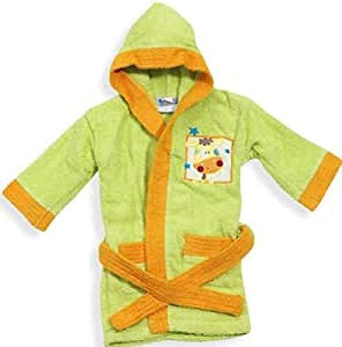 INTERBABY - Albornoz Bebé 100% Algodón T.0-2 años, color verde