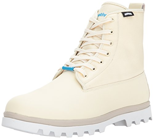 Native Shoes Women's Johnny Treklite Boot Rain, Bone White/Shell White, 5