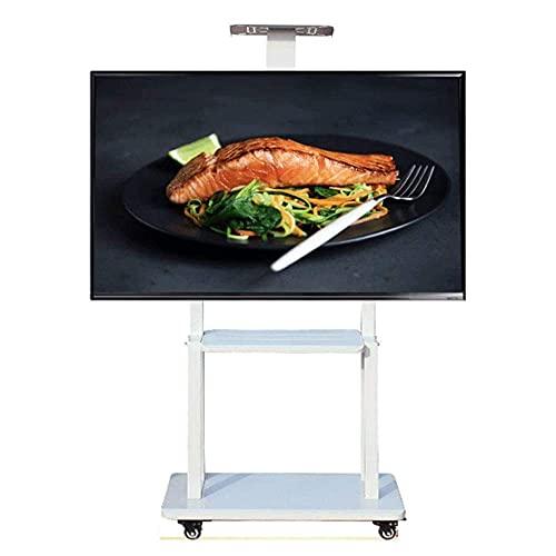 N/Z Home Equipment Soporte de TV móvil 32 Soporte de TV Vertical extraíble de 65 Pulgadas con Montaje sobre Ruedas Pantalla de Oficina para el hogar para Pantallas de TV LCD HDR LED Negro (Marfil)