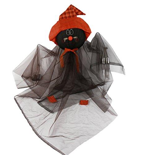 Yardwe Halloween Wetterfahnen Wind Skulpturen Garten Hngenden Hexe Puppe Hof Dekorationen (Schwarz)