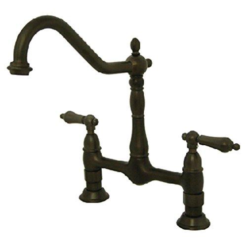 """Nuvo Elements of Design ES1175AL New Orleans 2-Handle 8"""" Center Bridge Kitchen Faucet, 8-1/2"""", Oil Rubbed Bronze"""