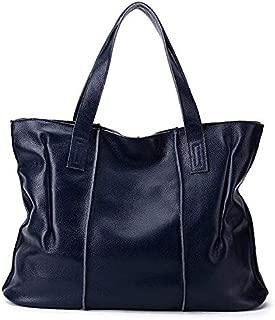 Topunique Leather Handbag for Women Large Shoulder Bags