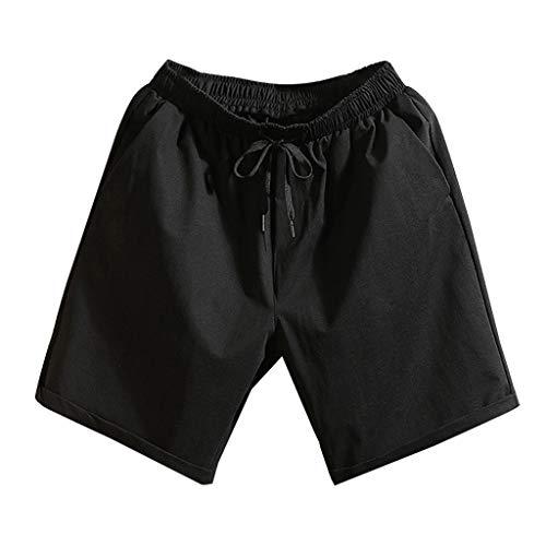 Alikeey Lange broek, katoen, zomer, korte mouwen, voor heren, zwembroek, zwempak, met net, tropische stijl, reizen, korte sportbroek voor snel drogen op het strand