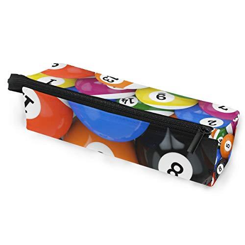 Sonnenbrille Fall Stift Federmäppchen Ball Sport bunte Billard Spiel Schreibwaren Beutel Aufbewahrungsbox Kosmetiktaschen Brillen Tasche mit Aufhängeöse