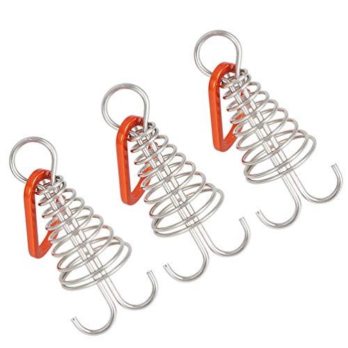 BESPORTBLE 3Pcs Camping Zelt Haken Bord Pegs Metall Octopus Seil Schnallen Zelt Befestigung Werkzeuge