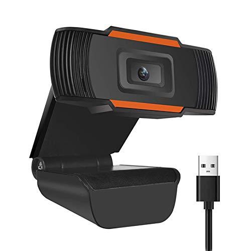 Echden Webcam, 720p HD USB cámara web con micrófono integrado, Plug & Play para escritorio, portátil, cámara de PC, para Youtube, Skype, Zoom, XBOX One Videollamadas, Estudio y Conferencia