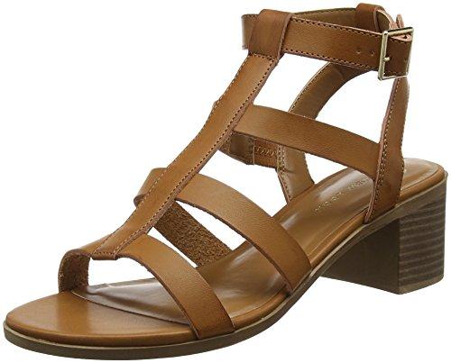 New Look Pop, Zapatos de tacón con Punta Abierta Mujer, Marfil (Tan 18), 40