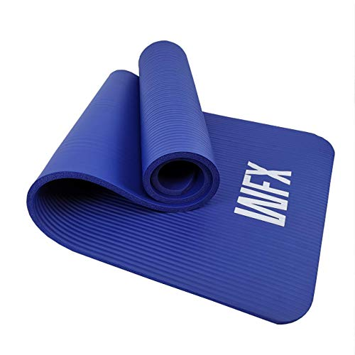 #DoYourFitness Esterilla Yoga y Fitness »Yamuna« - Colchoneta Extra Gruesa y Suave - Estera Deporte - Fitness, Yoga, Pilates, Gimnasia - 183 x 61 x 1,5 cm – Azul