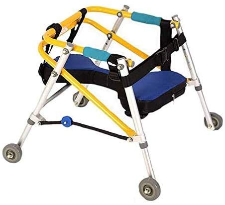 ADAHX Lightweight Folding Four Wheel Rollator Walker with Padded Seat for Toddlers, Kids, Teens with Special Needs, Cerebral Palsy - Durable, Height Adjustable,M