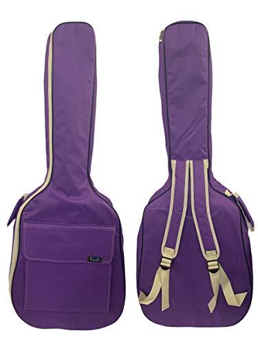 Gitarrentasche Konzertgitarre Gig Bag Rucksack Tasche gepolstert 4/4-3/4-1/2 - (3/4-94 cm, Lila)