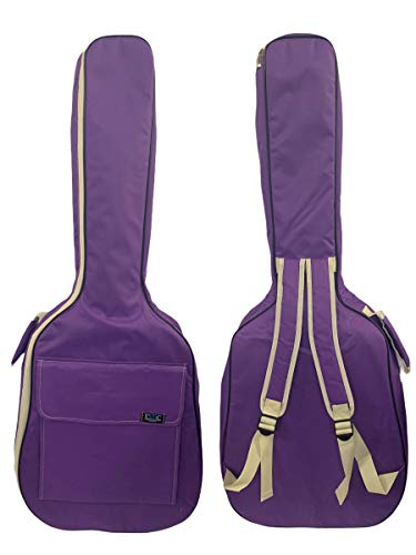 Gitarrentasche Konzertgitarre Gig Bag Rucksack Tasche gepolstert 4/4-3/4-1/2 - (1/2-87 cm, Lila)