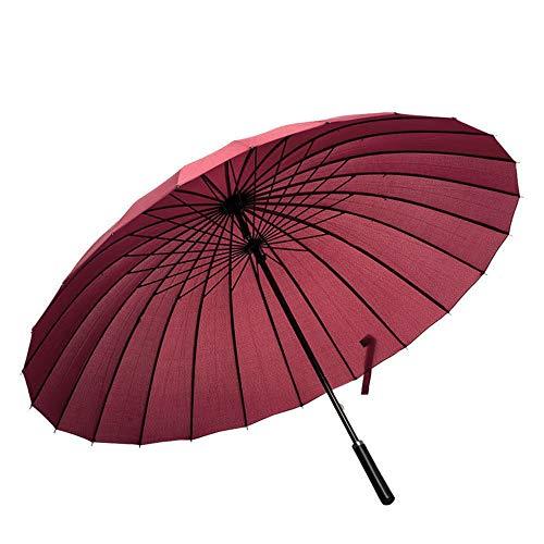 ThreeH Paraguas De Golf 24 Costillas A Prueba De Viento Viajar Negocio Paraguas De Gran Tamaño KS07,Claret
